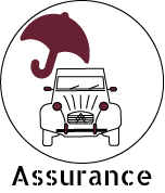 icone de l'assurance inclut dans la prestation de 2cv around the pic