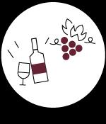 Icone de dégustation de vin de 2cv around the pic